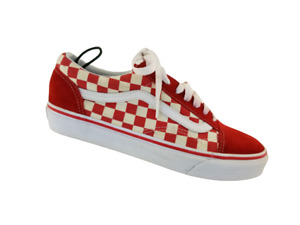 2 of VANS Men's 8 Women's 9.5 Skate Red/White/Bk Suede Checkered Low  Sneakers