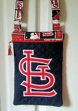 St. Louis Cardinals  Purse - Hand Made to Order - Cross body Quilted Team Logo