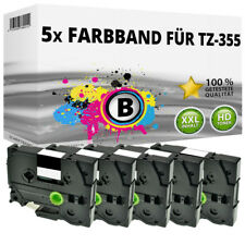 5x Farbband kompatibel Brother P-Touch 1000 1010 1080 1090 1230 PC1250 1280 ttp