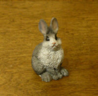 "Castagna Mini Animal Figurines #396G GRAY RABBIT,  1.75"" NEW/Box MADE IN ITALY"