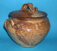 Studio Stoneware Pottery - Attractive Lidded Tureen With Ribbon Style Handles.