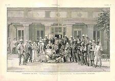 Gens Pao-Ting-Fou Cour Consulat de France à Tien Tsin Tianjin Chine GRAVURE 1900