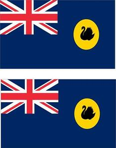 2 x Autocollant sticker voiture moto vinyl drapeau australie occidentale