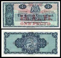 Scotland, 1 £ Pound 1966, 25.1.1966, Pick 166c, XF / aUNC,The British Linen Bank
