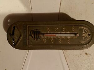 Vintage MINNEAPOLIS Honeywell Thermostat Metal Art Deco timken