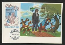 Disney FDC Turks & Caicos Islands #505 S/S 1981 Christmas Uncle Remus
