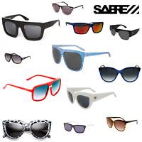 SABRE GLASSES Sunglasses Mens Womens Sunnies Sun Wear Black White Red Frames