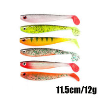 Quality T Tail Carp Artificial  Worm Fishing Lures Soft Bait Silicone Swimbait