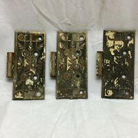 3 Vintage Eastlake Bronze Door Hinges