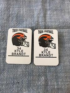 RARE Princeton USED Player Pin/Tag - Kyle Brandt - NFL Good Morning Football 1/2