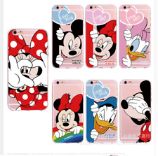 COVER SILICONE IPHONE 6- 7 8 X XR DISNEY TOPOLINO MINNIE PAPERINO PAPERINA LOVE