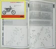 KTM 85SX Ersatzteilkatalog Ersatzteilliste Parts List Fahrgestell Motor 2005
