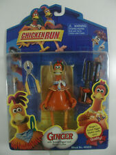 Chicken Run Ginger Figure w/Tunnel Digger & Fence Cutter Playmates New Sealed