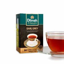 Ceylon Black Tea - Dilmah Earl Grey - 50 Tea Cup Bags X 4 Box (400g)