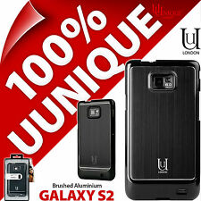 NUOVO Uunique Custodia rigida per Samsung Galaxy i9100 s2 SII COVER IN ALLUMINIO NERO