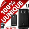 New Uunique Hard Case For Samsung Galaxy i9100 S2 SII Cover Aluminium Black