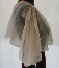 Vintage Valenciennes Lace Bertha Collar Shawl Flounce Set Beaded Crafts Trim
