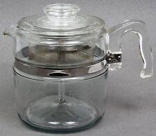 FLAMEWARE PYREX GLASS 7756-B 6 CUP COFFEE MAKER POT PERCOLATOR COMPLETE VG!