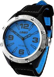 Brand New Mens Limit Blue Dial Sports Watch W/Proof 100m Ref No. 5402