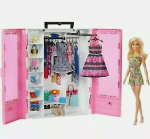 Barbie Fashionistas Ultimate Closet Portable Fashion Toy with Doll, Clothing-NEW