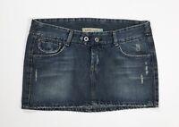 Meltin pot jeans mini gonna vita bassa hot usato blu M skirt denim disco T4453