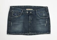 Meltin pot jeans mini gonna vita bassa hot usato blu M skirt denim disco T4453