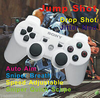 PS3 Rapid Fire Modded White Controller 12 Mode Stealth COD Series Black Ops 3