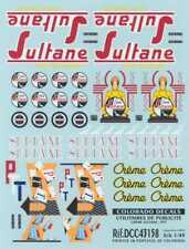 Colorado Decals 1/43 UTILITY ADVERTISING Creme Sultane & PTT