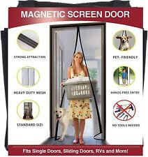 Magnetic Screen Door 36×82 Reinforced Fiberglass Mesh Curtain Entry Door Screen
