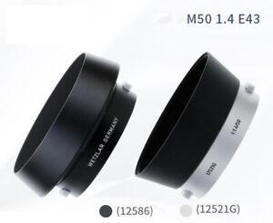 Leica E43 12521G black silver Lens Hood for 50mm f:1.4 Summilux lens E43 version