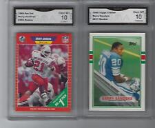 2 LOT 1989 TOPPS TRADED   PRO SET BARRY SANDERS ROOKIE CARD GEM MINT 10 RC 1e167f0a0
