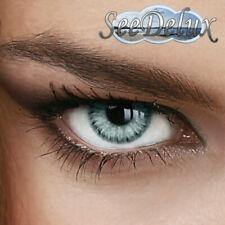 """Jahres Farbige Kontaktlinsen """" Marble Gray """" -  Grau Grün Stärke (+5.00 -12.00)"""
