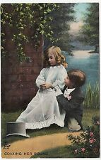 * RAPHAEL TUCK - Coaxing Her Round - Love's Young Dream #8059 - c1910s postcard
