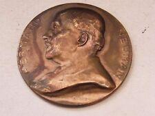 Medaille Bronze Fernand Neuman Bonnetain université freie Brüssel 1930 1946