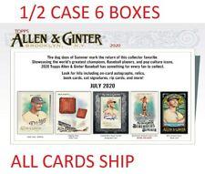 NON SPORTS/OTHER 2020 TOPPS ALLEN GINTER BASEBALL 1/2 CASE 6 BOX CASE BREAK