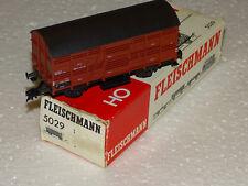 FLEISCHMANN ( 5029 ) JOLI WAGON COUVERT A CLAIRE-VOIE A ESSIEUX  DB EN BOITE HO