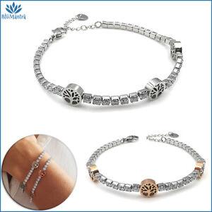 Bracciale da donna tennis albero della vita in acciaio inox braccialetto regalo