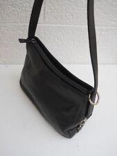 Etienne Aigner Four-Compartment Black Leather Shoulder Bag