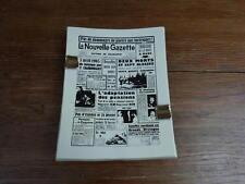 CENDRIER ANCIEN  / ASHTRAY VINTAGE La Nouvelle Gazette CHARLEROI grès GUERIN