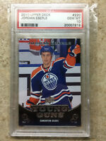10-11 UD Serie 1 RC Rookie YG Young Guns #220 JORDAN EBERLE Graded PSA 10