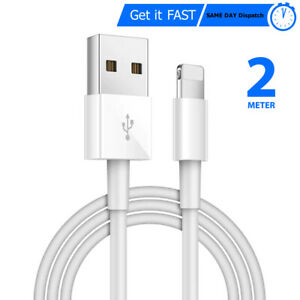 Extra Long 2M Charger USB Data Sync Cable for iPhone 11 Pro XR XS Max 6 7 8 SE 2