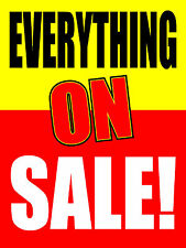 """EVERYTHING ON SALE 18""""x24"""" BUSINESS STORE RETAIL SIGNS"""