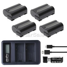 4x EN-EL15 Replacement Battery + LED Dual Charger for Nikon D500 D610 D750 D800