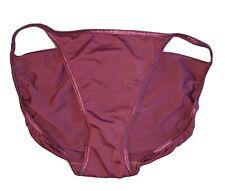 New listing Victoria'S Secret Satin String Bikini Panties Eggplant Purple Vintage Large