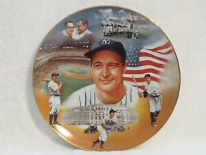"""Sports Impressions 1987 Superstar Collector Baseball Plate """"Lou Gehrig"""""""