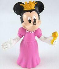 Vintage Disney MINNIE MOUSE Princess Queen Pink Dress FIGURE Toy 7 cms