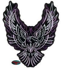 PINSTRIPE EAGLE Patch Aufnäher Aufbügler Biker Motorrad Rocker Adler Harley USA