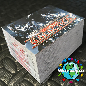 THE COMPLETE BATTLESTAR GALACTICA 72-CARD TRADING CARDS SET 2004 RITTENHOUSE W@W