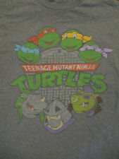 L gray TEENAGE MUTANT NINJA TURTLES t-shirt - retro reprint - BEBOP ROCKSTEAD