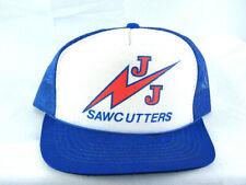 Nos Vintage 80's J&J Saw Cutters Mesh Snapback Trucker Baseball Hat Cap